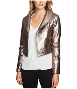 1.STATE Womens Cropped Metallic Jacket