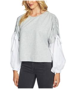 1.STATE Womens Blouson-Sleeve Sweatshirt