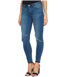 1.STATE Womens Frayed-Detail Skinny Fit Jeans
