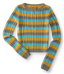 Aeropostale Womens Striped Knit Pullover Sweater