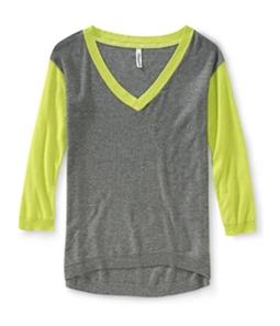 Aeropostale Womens V Neck Knit Sweater