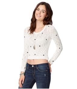 Aeropostale Womens Sheer Stars Pullover Sweater