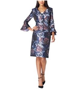 Tahari Womens Floral Portrait Skirt Suit