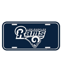 WinCraft Unisex LA Rams License Plate Cover Souvenir