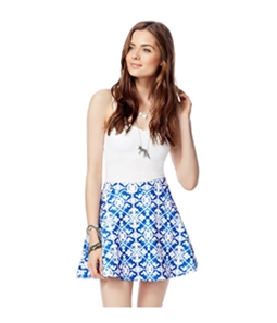 Aeropostale Womens Tie-Dye Triangle Skater Mini Skirt