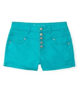 Aeropostale Womens High-Rise Shorty Casual Denim Shorts