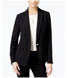 bar III Womens Notched Collar One Button Blazer Jacket