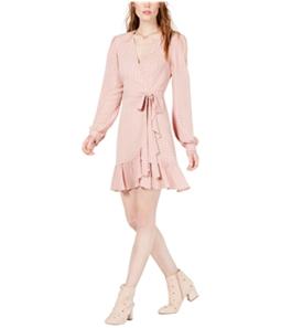 Leyden Womens Ruffled Wrap Dress