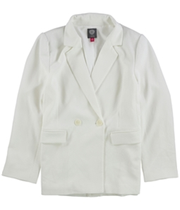 Vince Camuto Womens Parisian Crepe Double Breasted Blazer Jacket