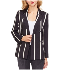 Vince Camuto Womens Dramatic Stripe Double Breasted Blazer Jacket