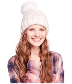Free People Womens Skyline Pom Beanie Hat