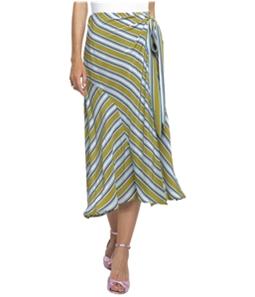 ASTR The Label Womens Teagan Striped Midi Skirt