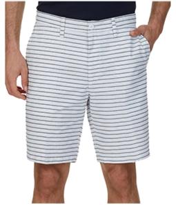 Nautica Mens Striped Casual Chino Shorts