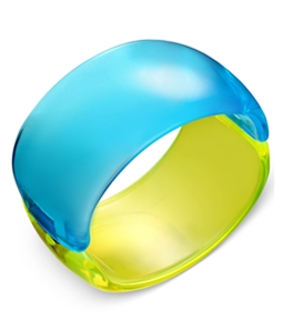 I-N-C Womens Colorblock Acrylic Bracelet Bangles