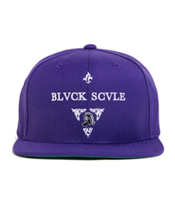 Black Scale Mens The Blvck Knight Snapback Baseball Cap