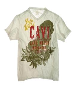 CAVI Mens Into The Wild Screen Print Graphic T-Shirt