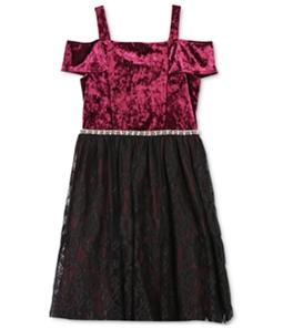 Speechless Girls Velvet A-line Dress