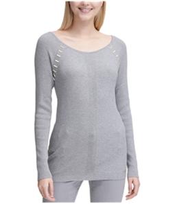 Calvin Klein Womens Hardware Detail Pullover Sweater
