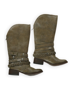 Candie's Womens Buckle Strap Riding Boots