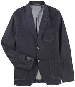 Michael Kors Mens Chambray Two Button Blazer Jacket