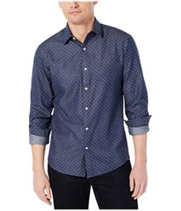 Michael Kors Mens Chambray Button Up Shirt