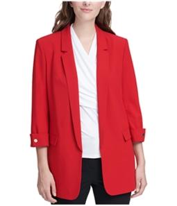 DKNY Womens 3/4 Sleeve Blazer Jacket
