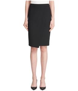DKNY Womens Crossover Asymmetrical Skirt