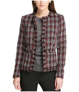 DKNY Womens Boucle Blazer Jacket