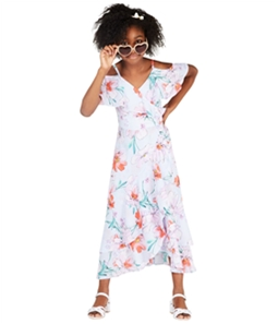 Rare Editions Girls Floral Wrap Dress