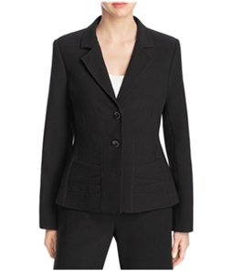 Finity Womens Notch Lapel Two Button Blazer Jacket
