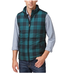 Weatherproof Mens Vintage Plaid Puffer Vest