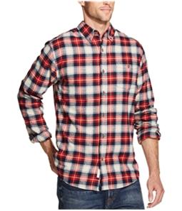 Weatherproof Mens Flannel Plaid Button Up Shirt
