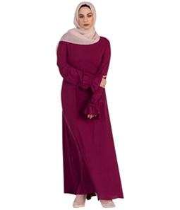 Verona Collection Womens Ruffle-Sleeve Maxi Dress