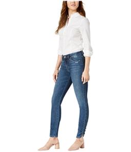 Joes Womens Gathered Hem Skinny Fit Jeans