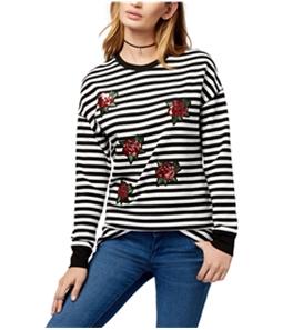 Carbon Copy Womens Sequin Floral Sweatshirt