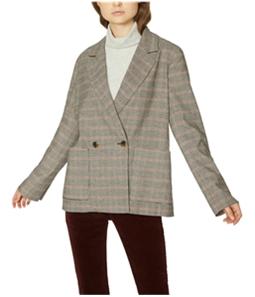 Sanctuary Clothing Womens Plaid Two Button Blazer Jacket