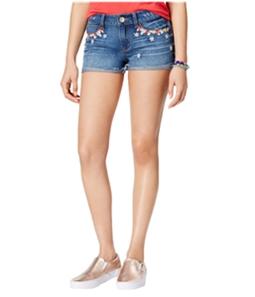 Rewash Womens Floral Casual Denim Shorts