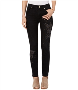 Tommy Hilfiger Womens Studded & Embroidered Skinny Fit Jeans