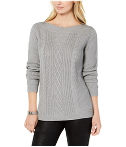 Tommy Hilfiger Womens Cable-Knit Pullover Sweater