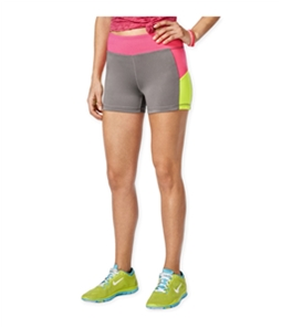 energie Womens Sunny Colorblock Athletic Compression Shorts