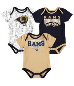 NFL Team Apparel Boys Rams Baby 3-Piece Bodysuit
