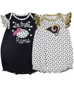 NFL Team Apparel Girls LA Rams 2-Piece Bodysuit