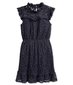 Monteau Girls Ruffled Lace A-line Dress