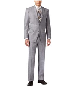Michael Kors Mens Classic Plaid Two Button Formal Suit
