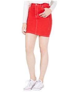 Kendall Kylie Womens Cotton Denim Mini Skirt