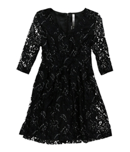 Kensie Womens Flare Lace A-line Dress