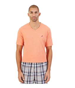 Nautica Mens Knit Solid Pajama Sleep T-shirt