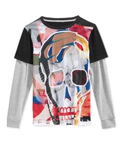 Sean John Boys Layered Cranio Graphic T-Shirt