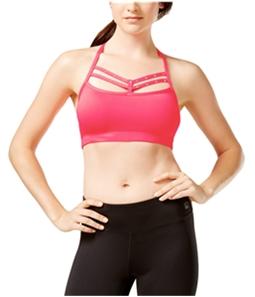 Material Girl Womens Rhinestone Strappy Sports Bra