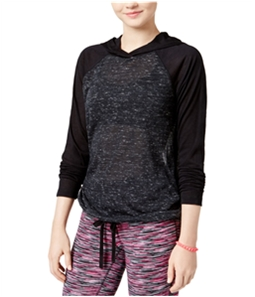 Material Girl Womens Active Cut-Out Hoodie Sweatshirt